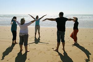Sophrologie à la plage, à la plage Gruissan Montpellier Leucate