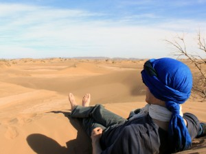 méditation au coeur du désert