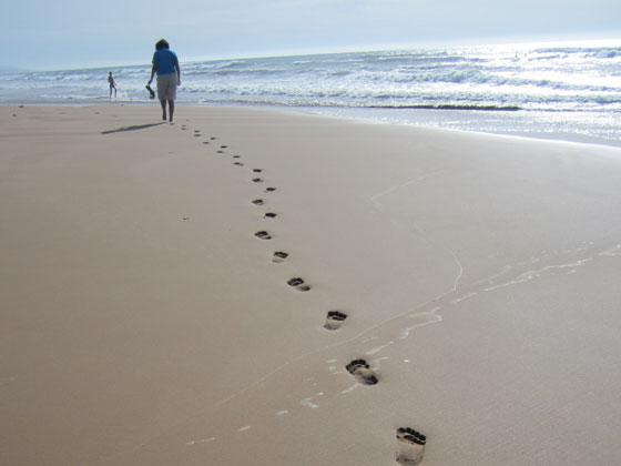 Pleine conscience à la plage, entre Narbonne et Montpelier