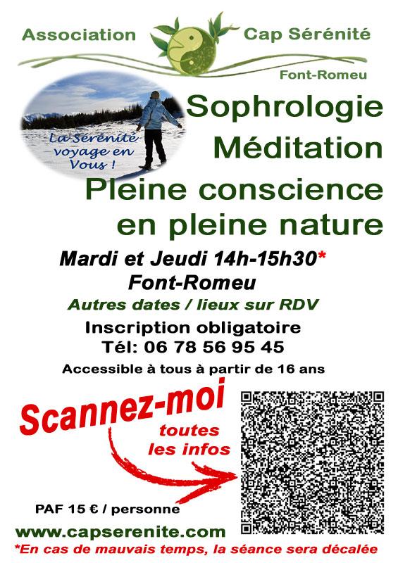 Sophrologie Nature Hiver Font-Romeu Pyrénées